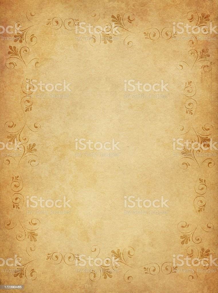 decorated old paper vector art illustration