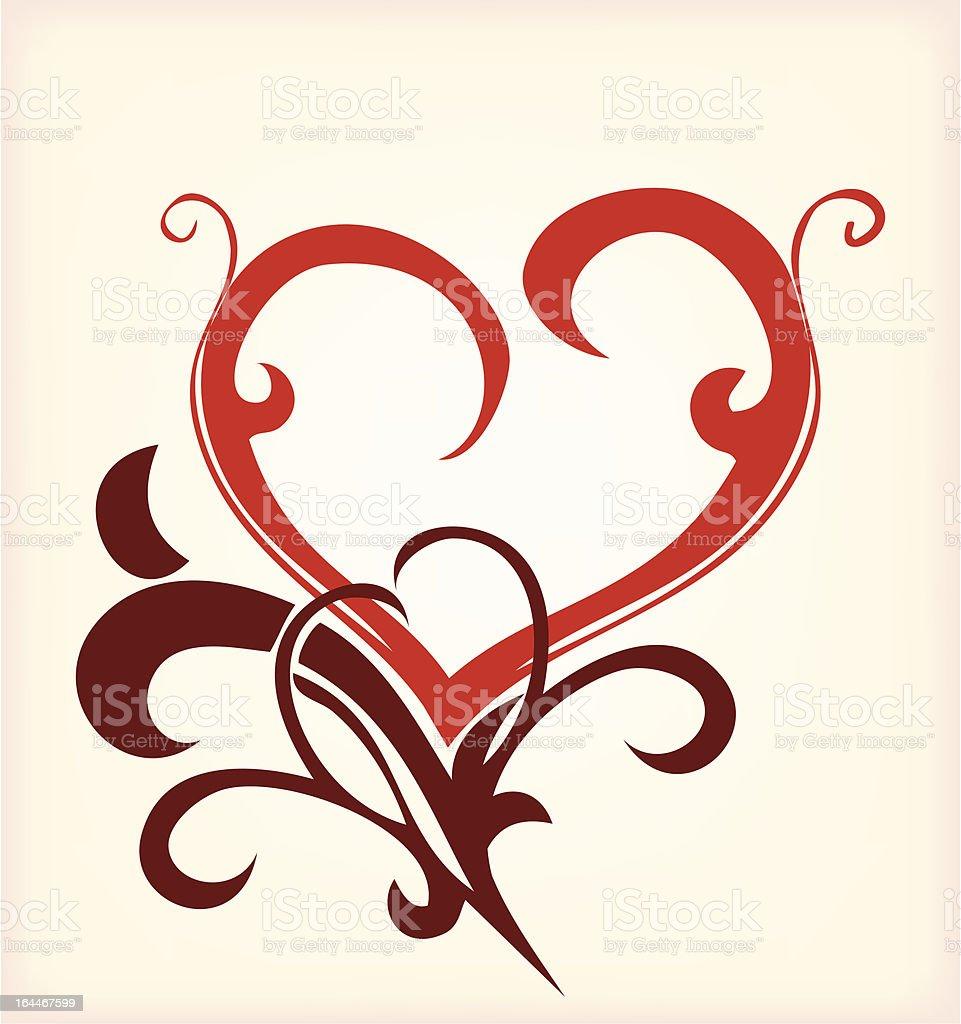 Decoration heart. Vector royalty-free stock vector art