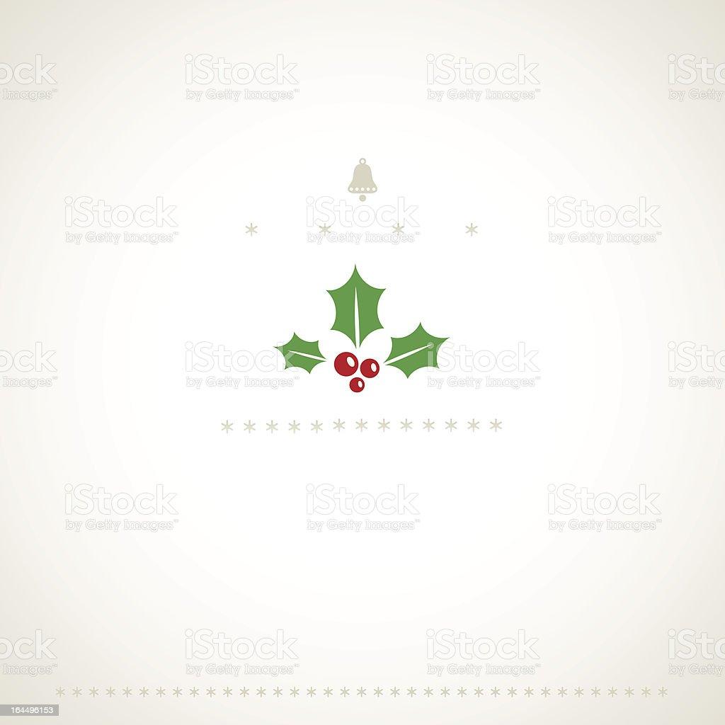 Decoration winter holiday background with mistletoe. vector art illustration