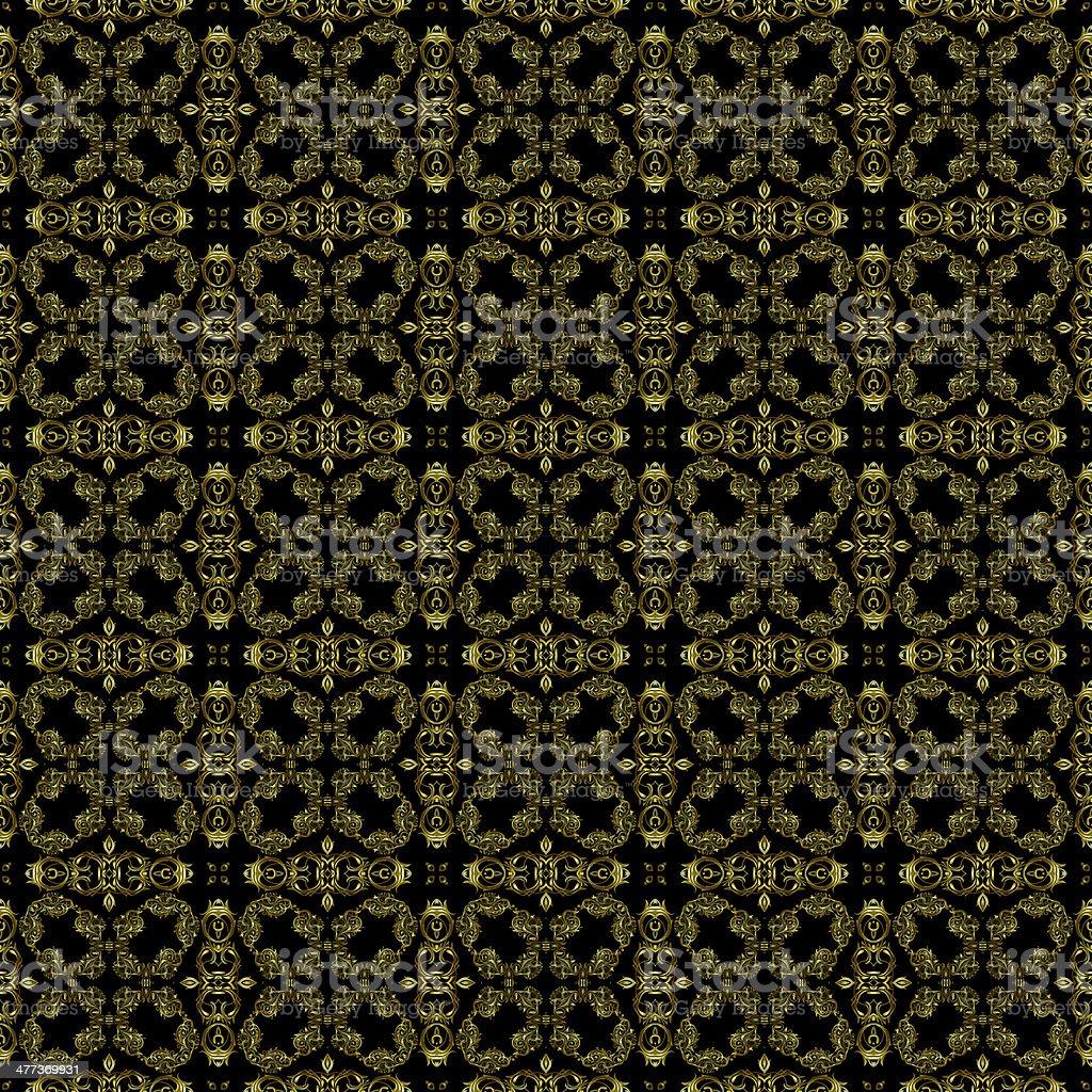 Decorative art, geometric pattern, symmetrical illustration, abstract fractals, seamless ornament. royalty-free stock vector art
