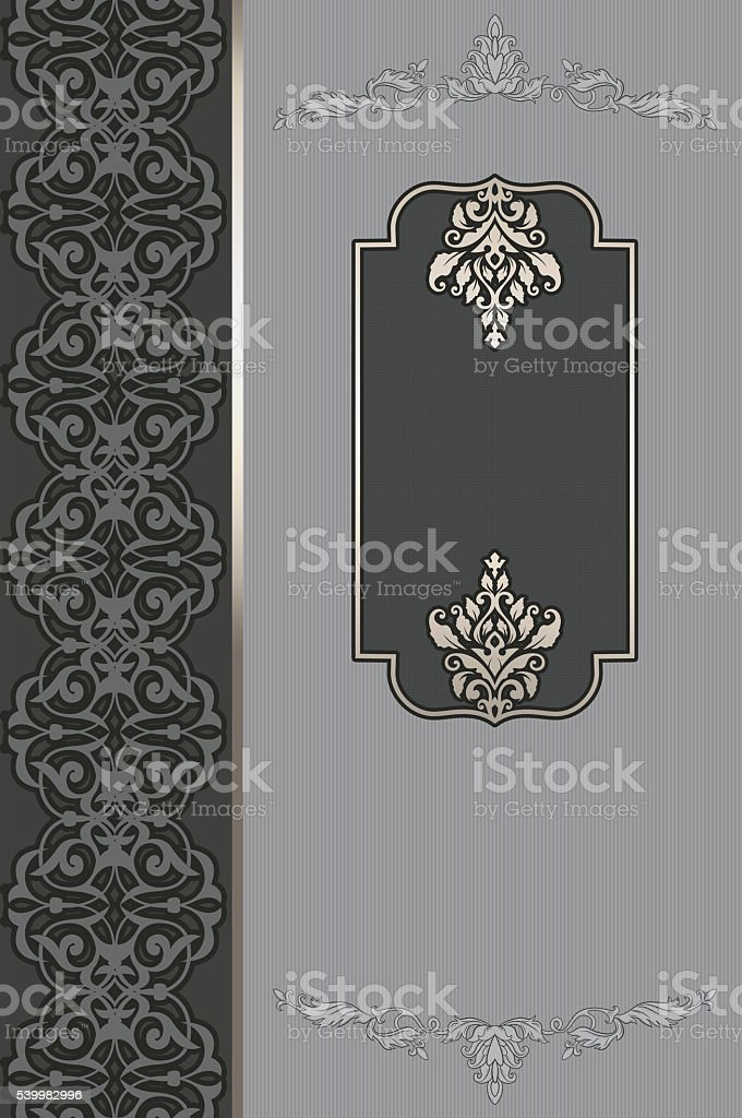 Decorative background with elegant borders and patterns. stock photo