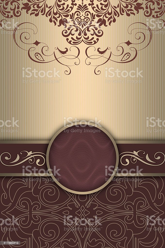 Decorative background with elegant patterns and frame. stock photo