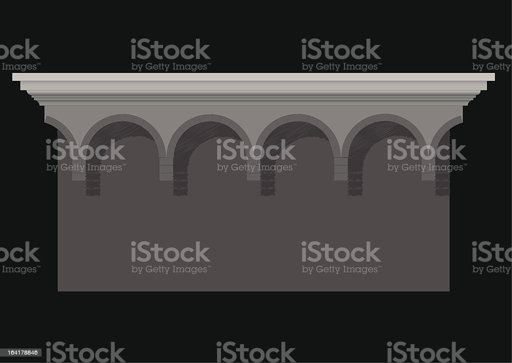 decorative blind arcade royalty-free stock vector art