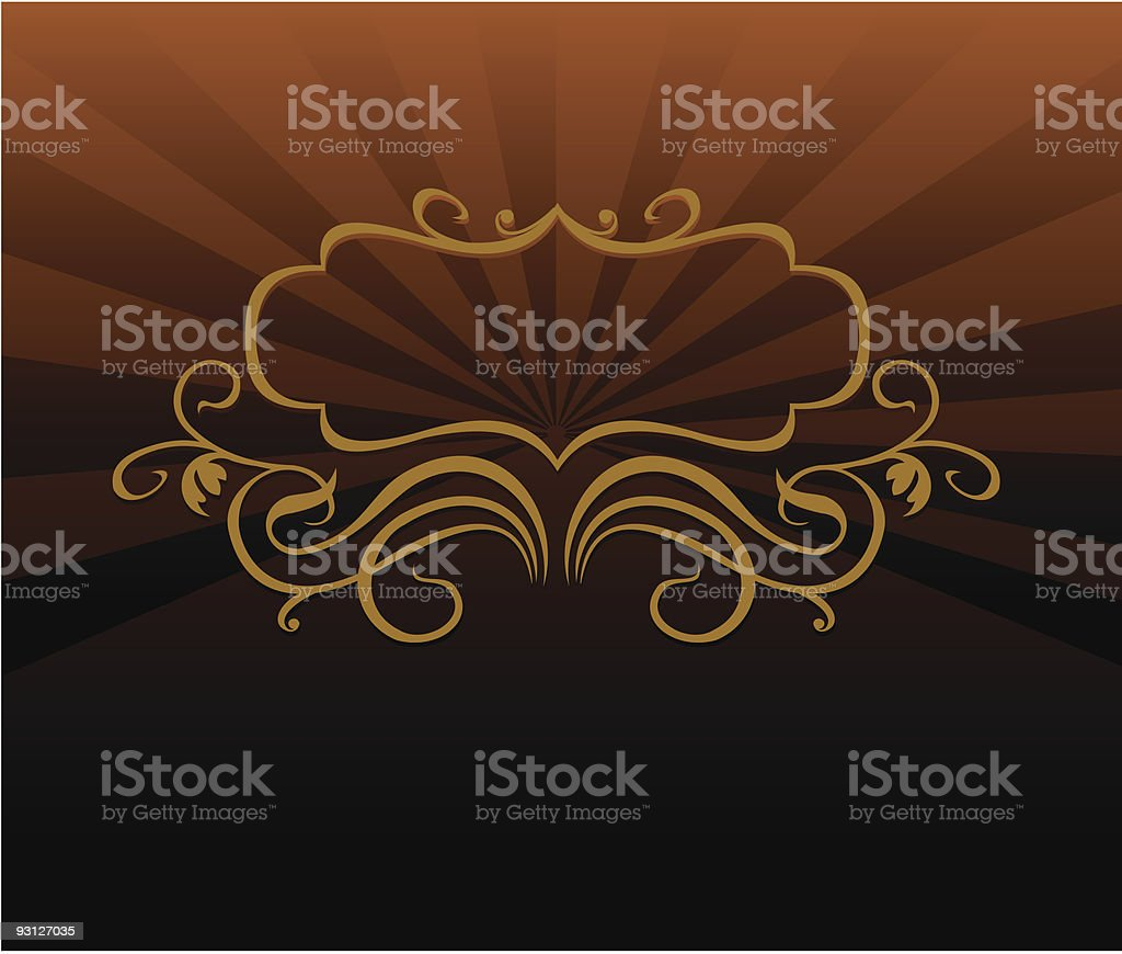 Decorative brown tone background vector art illustration