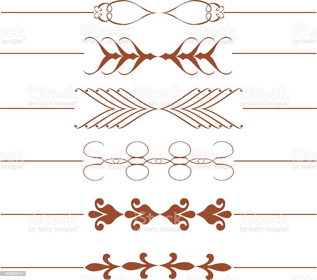 Decorative Dividers royalty-free stock vector art