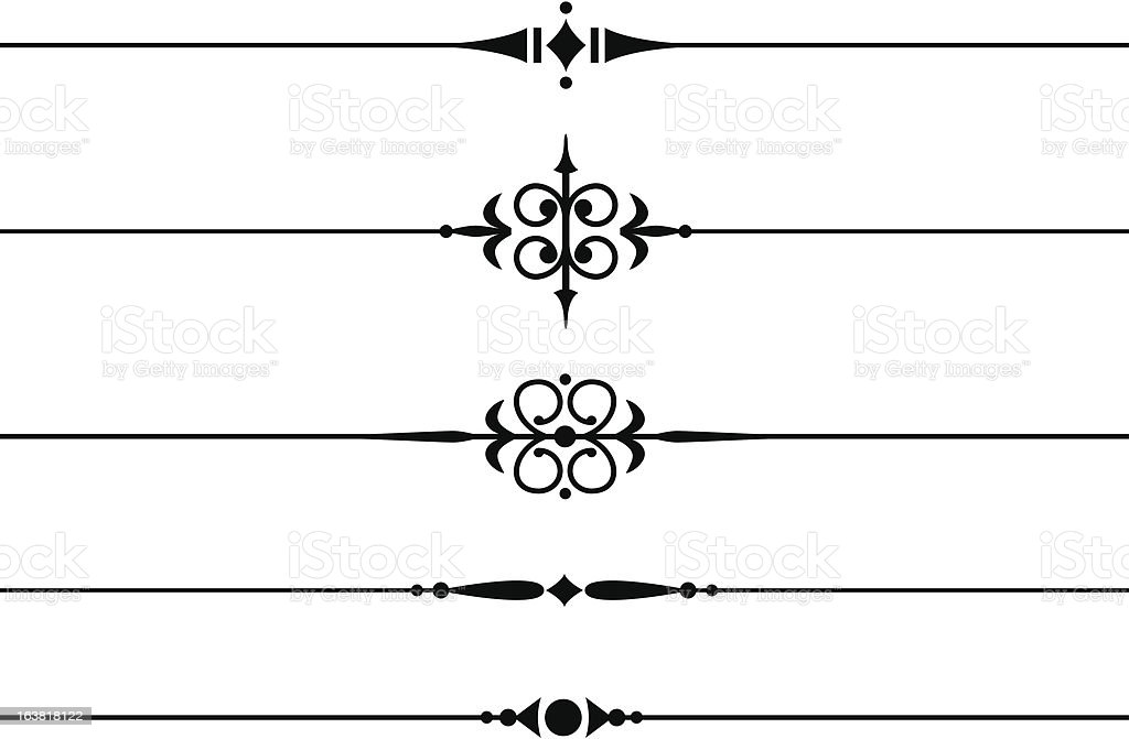 Decorative Dividing Lines royalty-free stock vector art