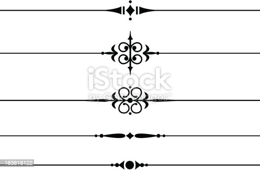 Decorative Dividing Lines Stock Vector Art 163818122