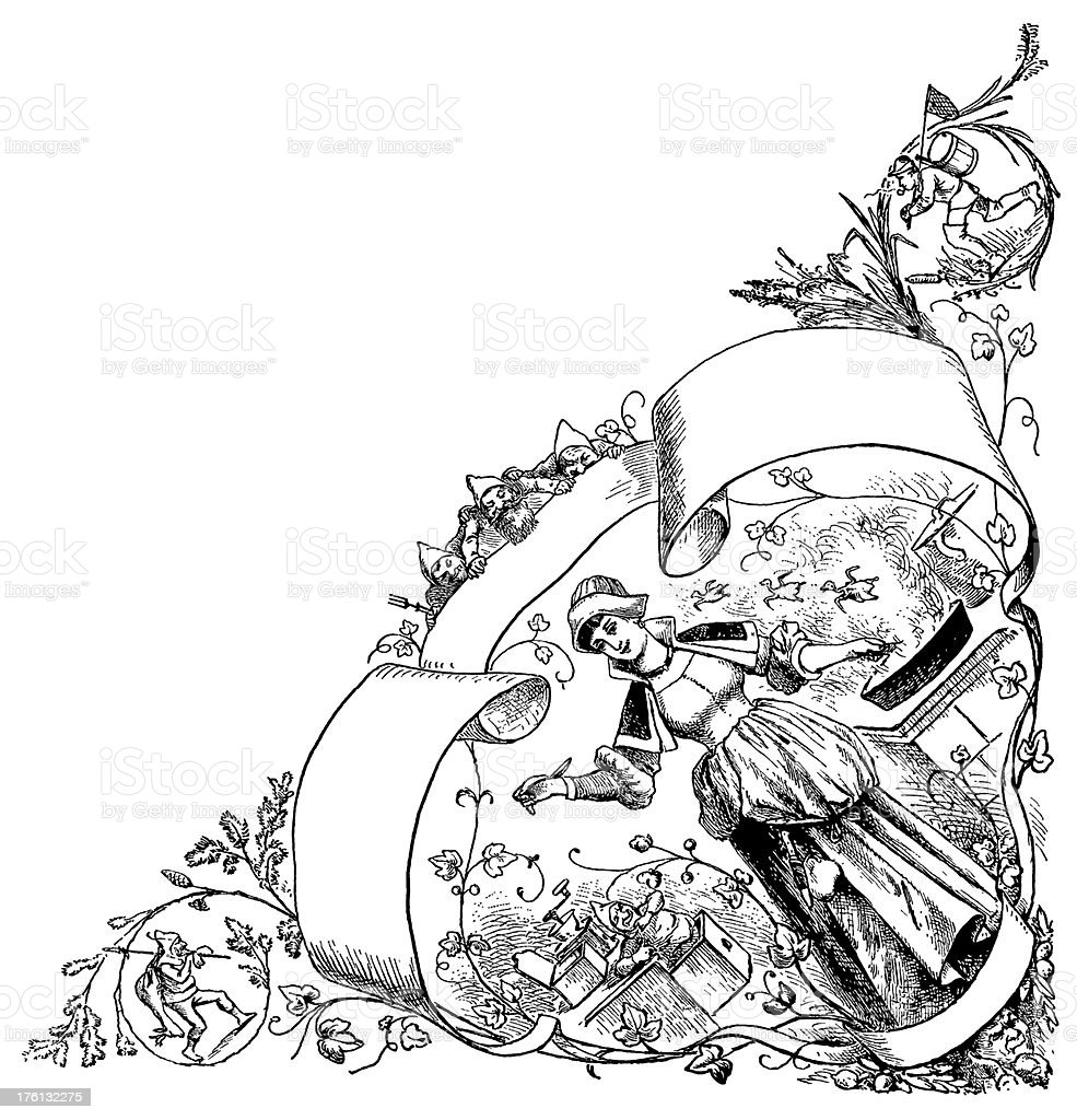Decorative element | Antique Food Illustrations royalty-free stock vector art