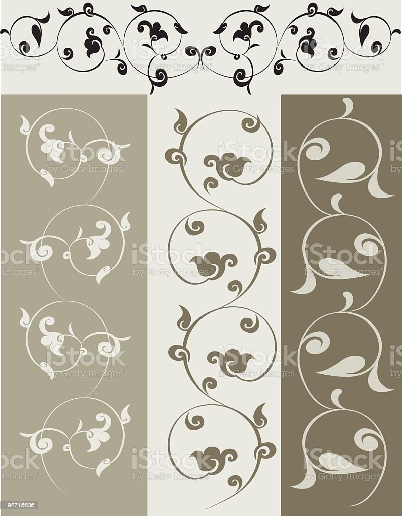 Decorative elements, vector royalty-free stock vector art