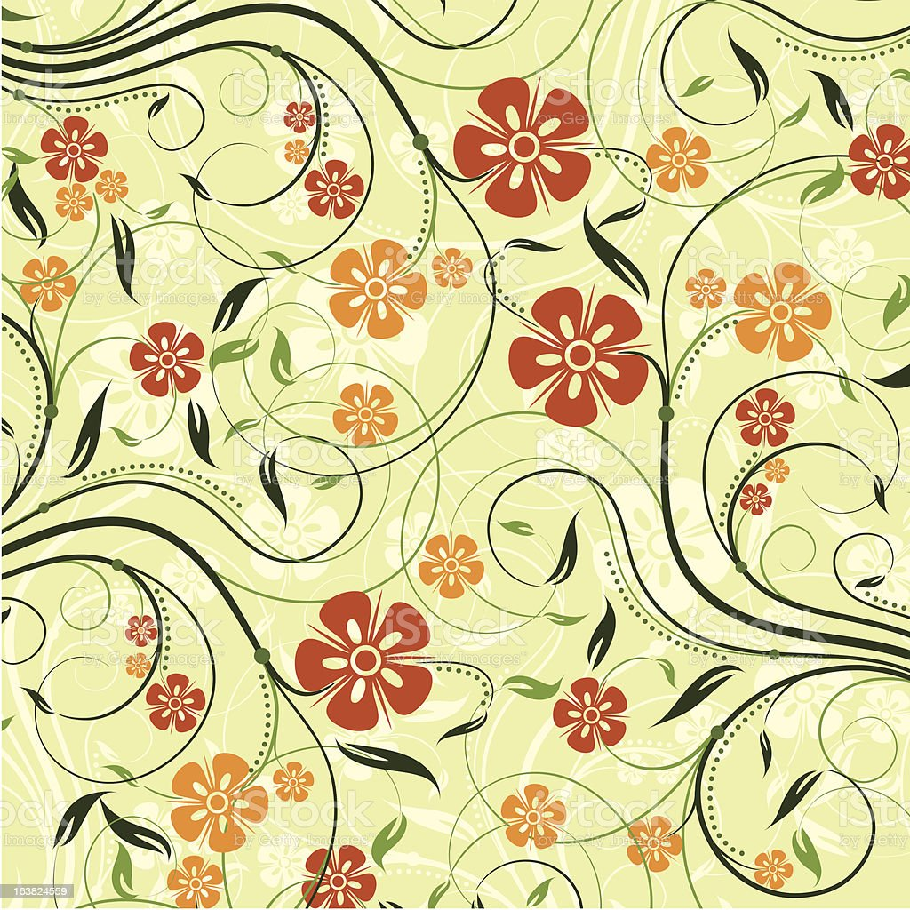 Decorative floral pattern royalty-free stock vector art