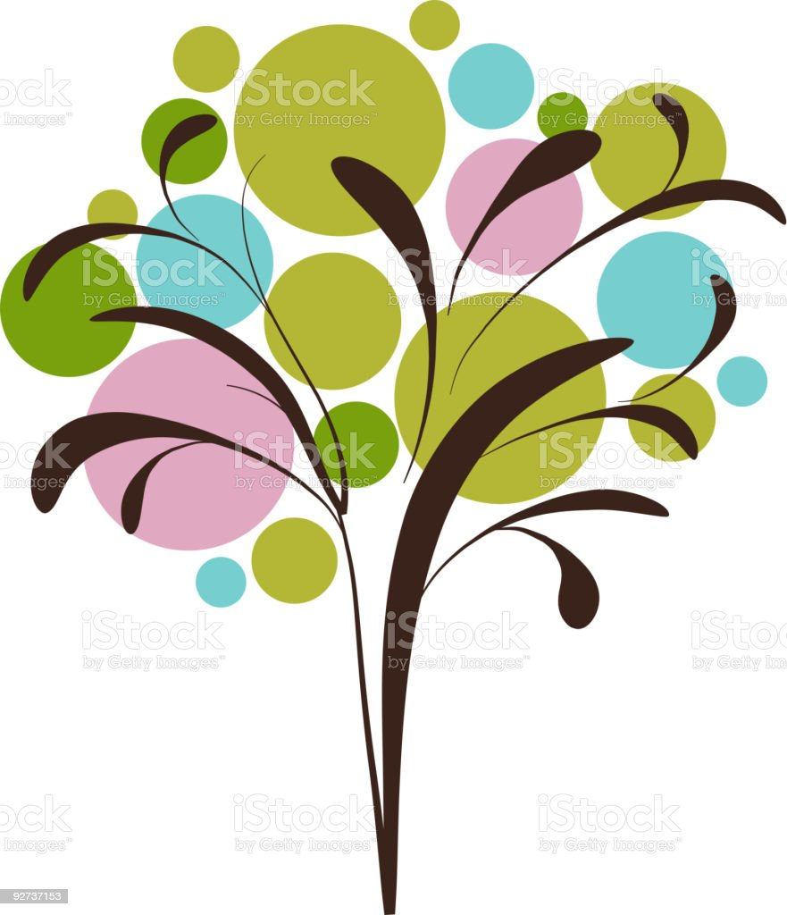 Decorative graphic icon of tree royalty-free stock vector art