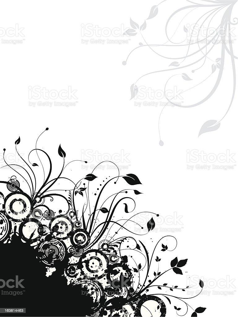 Decorative grunge - vector vector art illustration