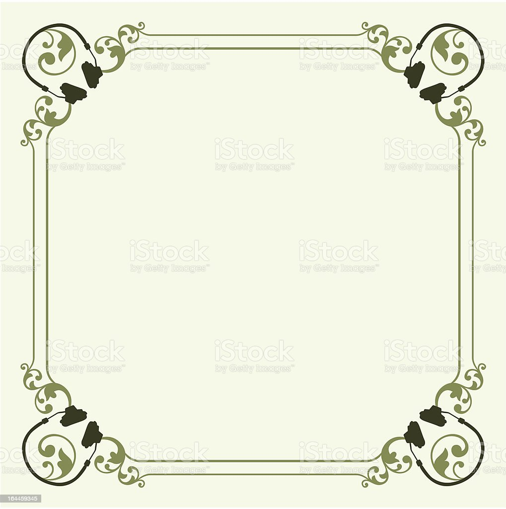 Decorative headset frame royalty-free stock vector art