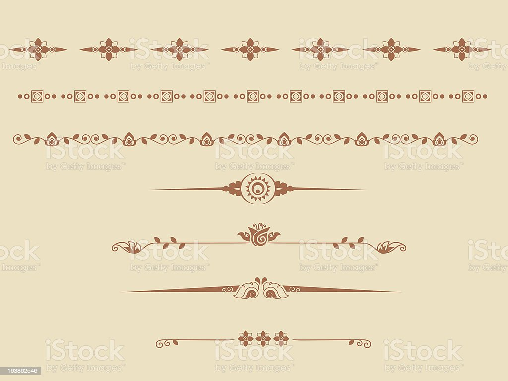 Decorative lines and dividers royalty-free stock vector art