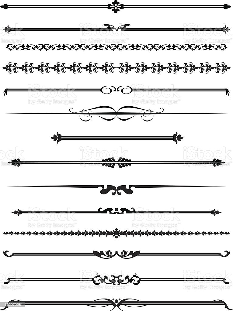 Decorative lines four royalty-free stock vector art