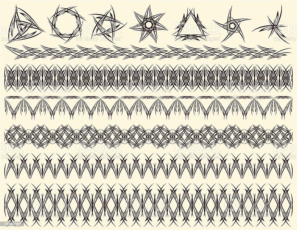 decorative lines royalty-free stock vector art