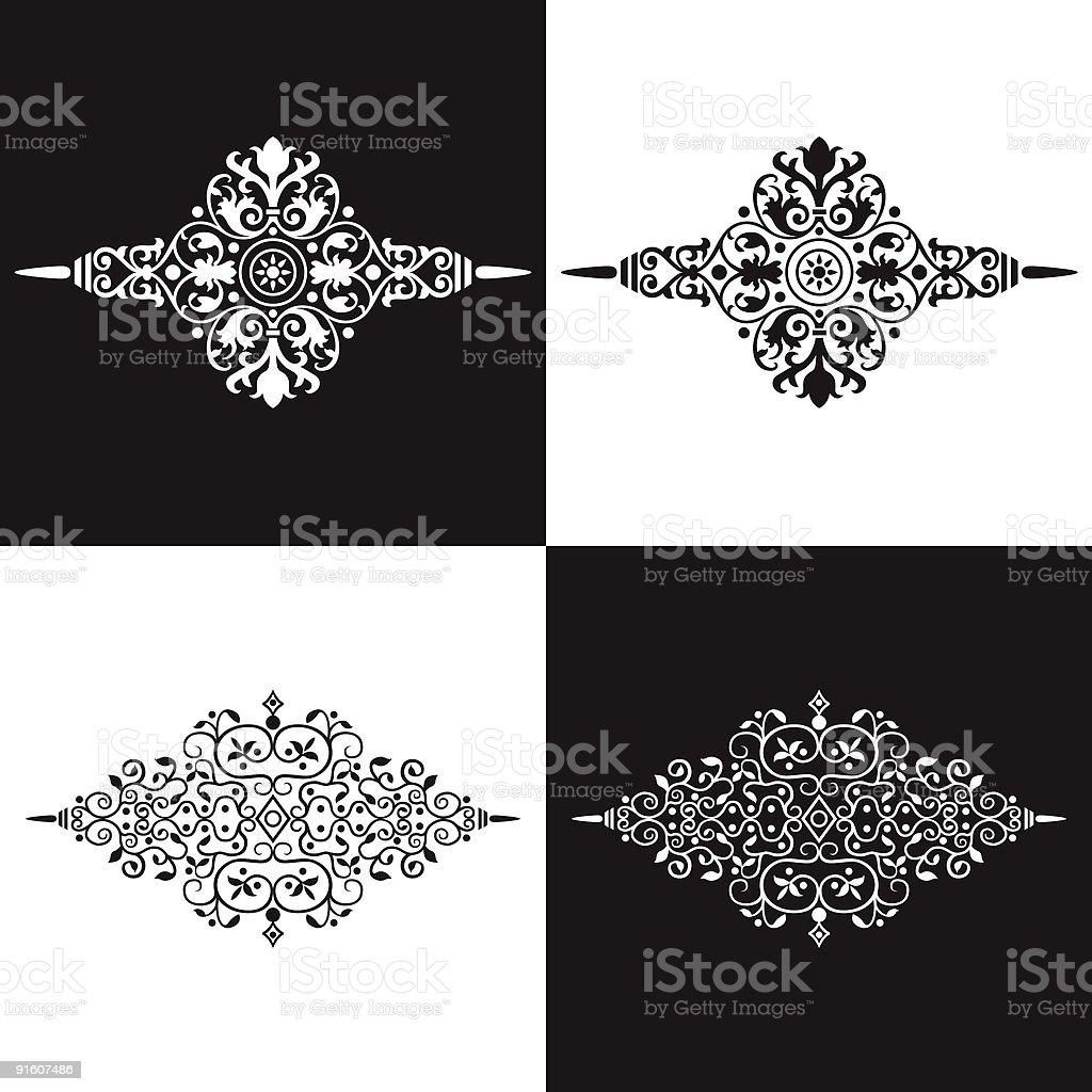 Decorative Ornamental Elements vector art illustration