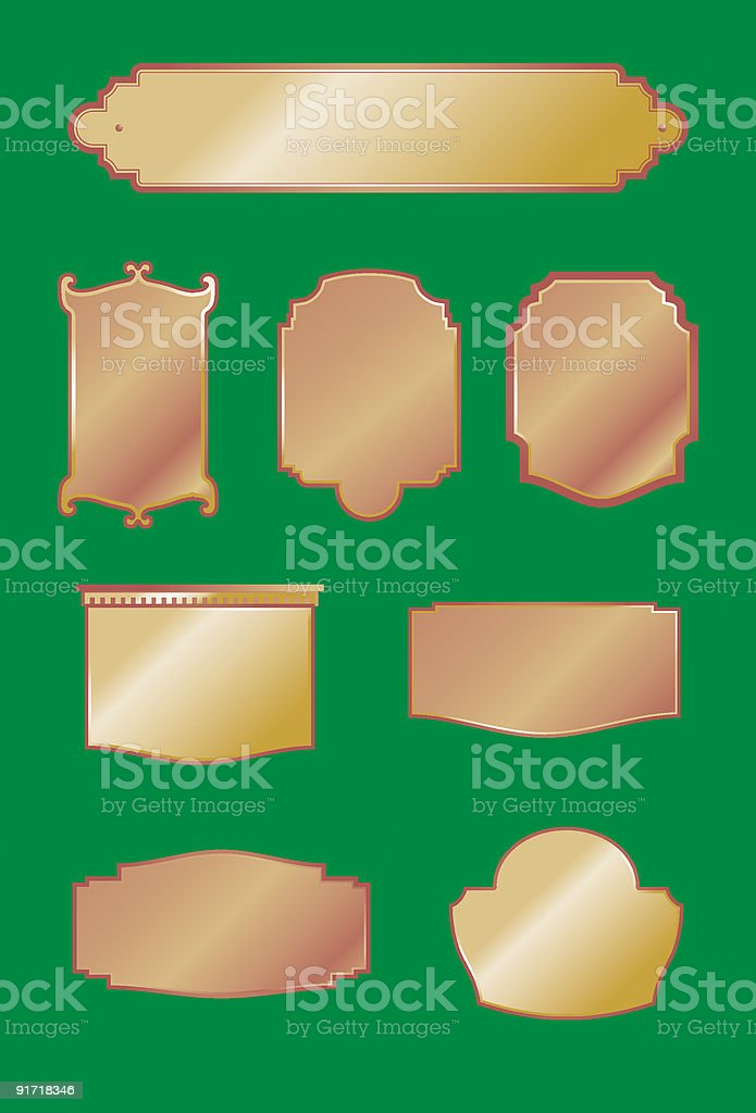 Decorative Plaques and Signs royalty-free stock vector art