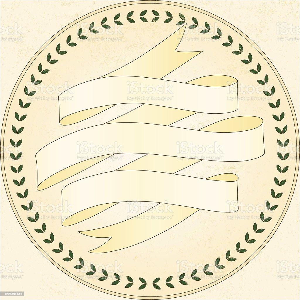 decorative ribbon, laurel leaves ... royalty-free stock vector art
