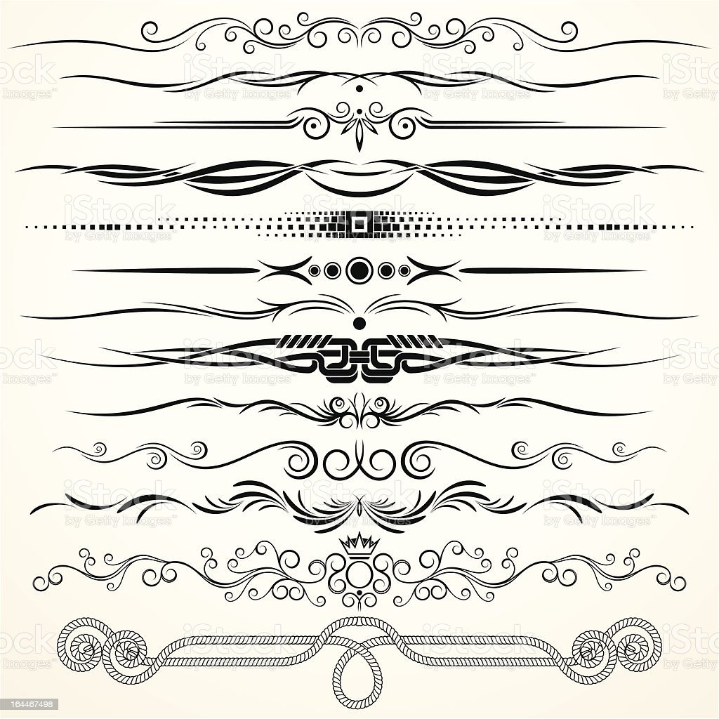 Decorative Rule Lines vector art illustration