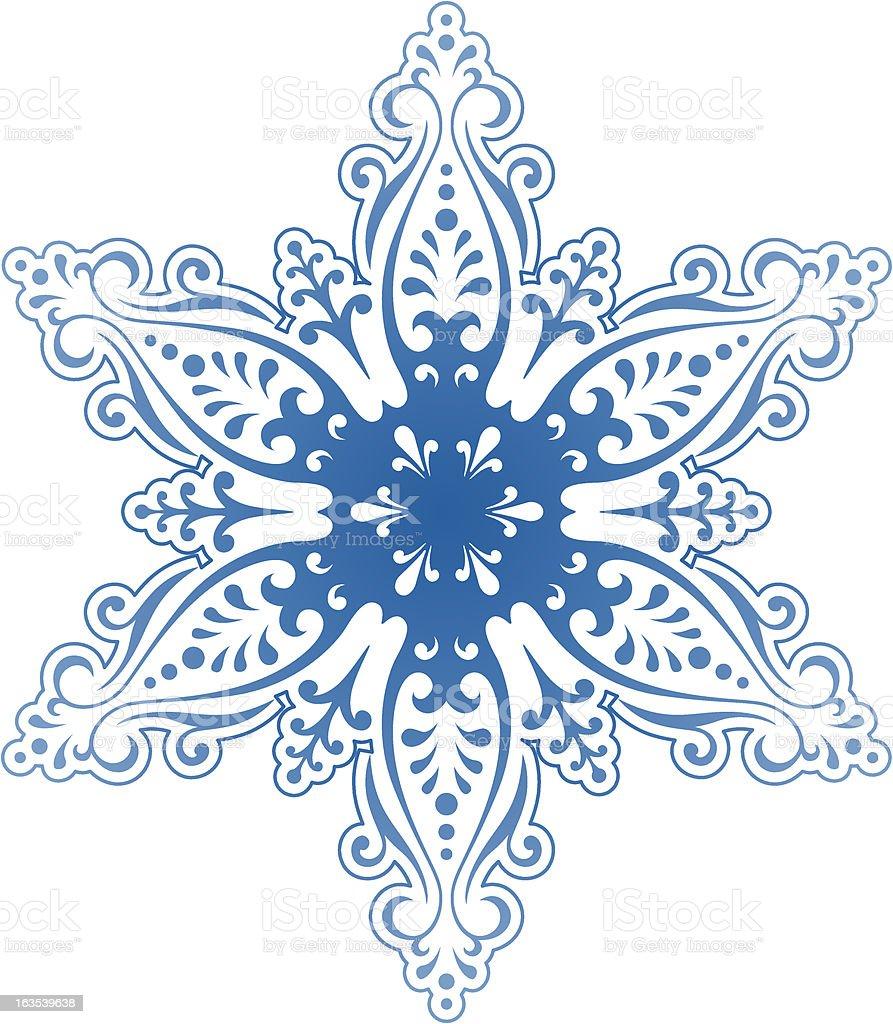 Decorative Snowflake Ornament 4 royalty-free stock vector art
