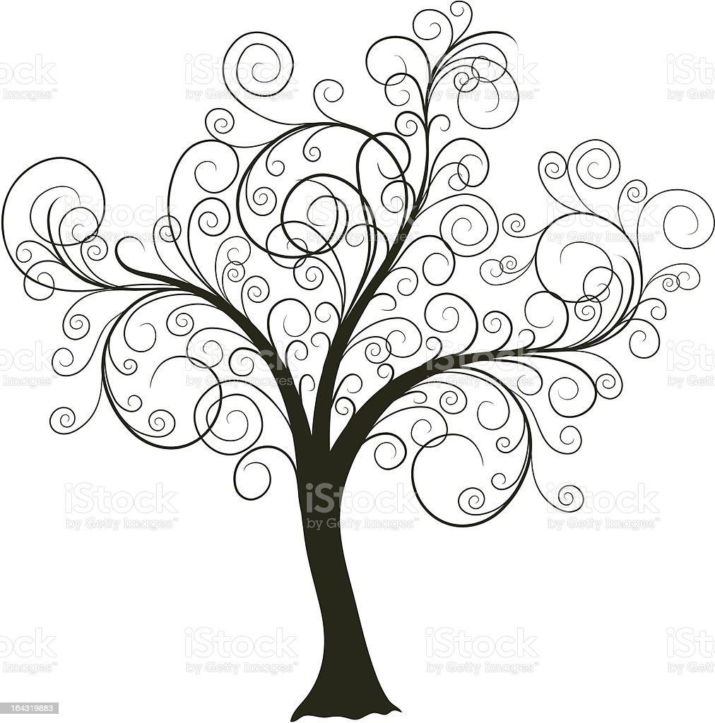 Decorative tree vector art illustration