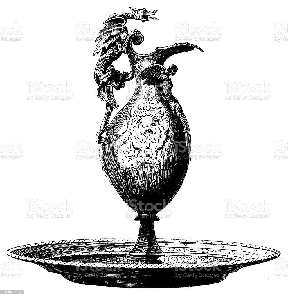Decorative Vase I Antique Design Illustrations royalty-free stock vector art