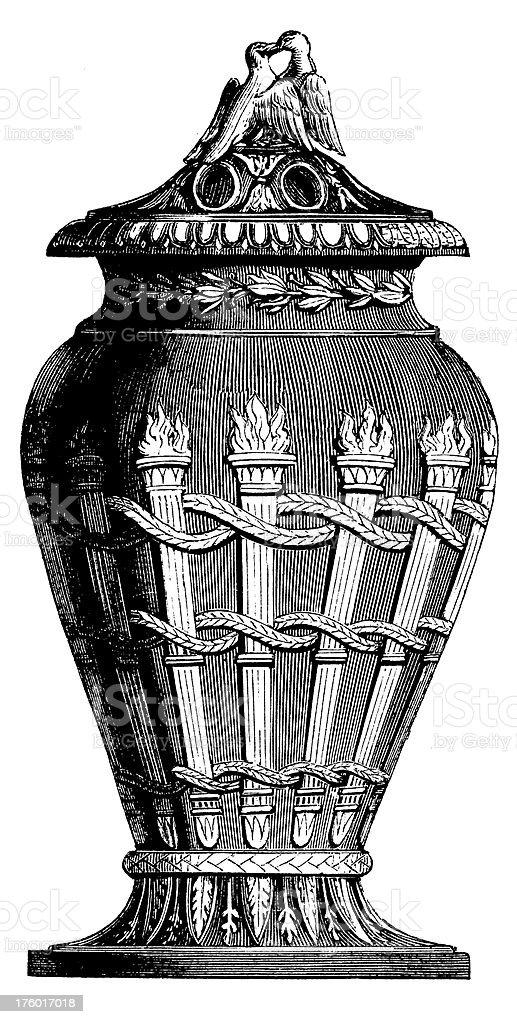 Decorative XIX-century Urn I Antique Design Illustrations vector art illustration