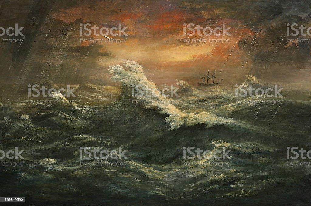 decuman wave vector art illustration