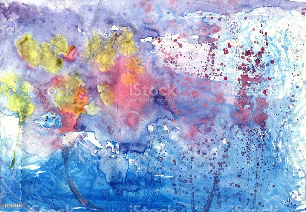 deep sea life children's drawing royalty-free stock vector art