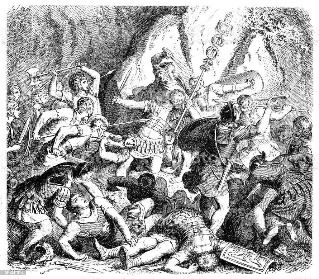 Defeat of the Fabians vector art illustration