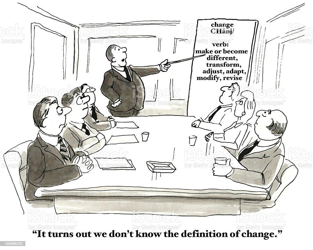 Definition of Change vector art illustration