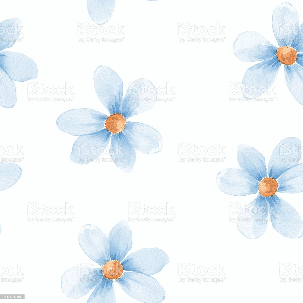Delicate floral set. Seamless pattern 31 vector art illustration