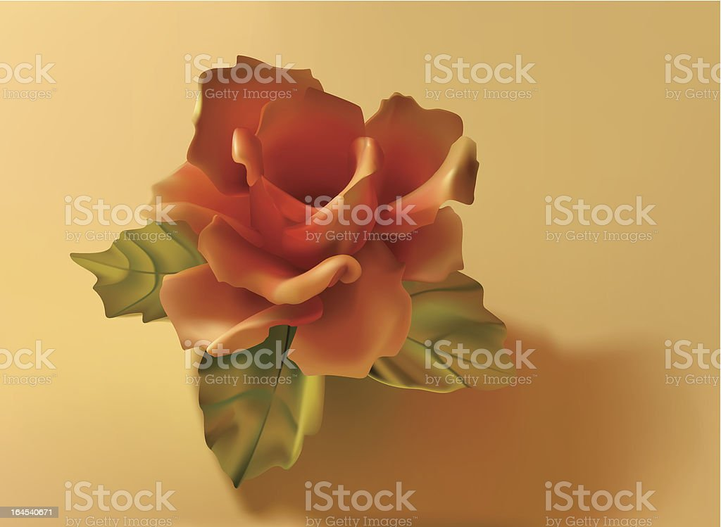 Delicate Rose royalty-free stock vector art