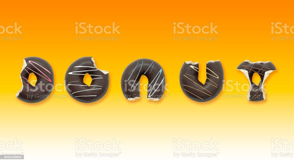 Vector Illustration Smile Donut Lifts Dumbbells Stock Vector ...