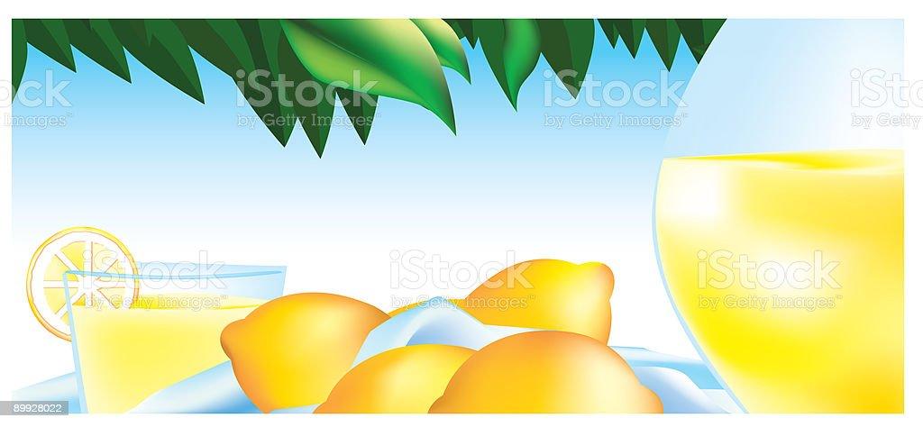 Delicious Lemonade royalty-free stock vector art