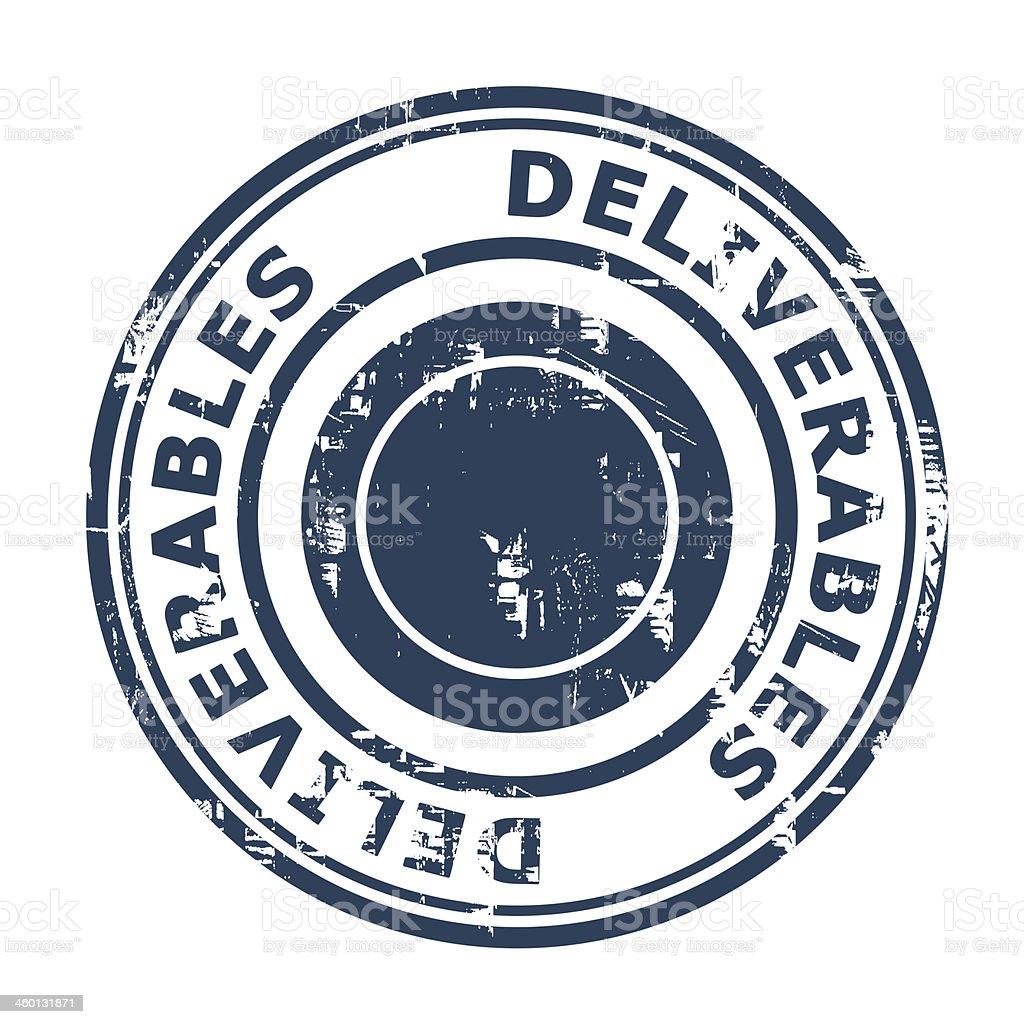 Deliverables concept stamp vector art illustration