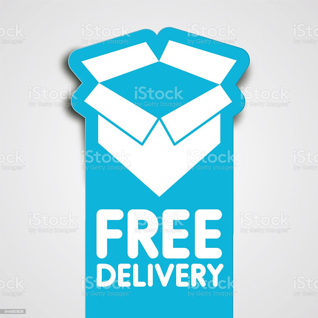 Delivery label vector art illustration