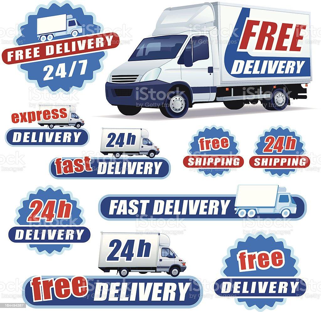 Delivery sign vector art illustration