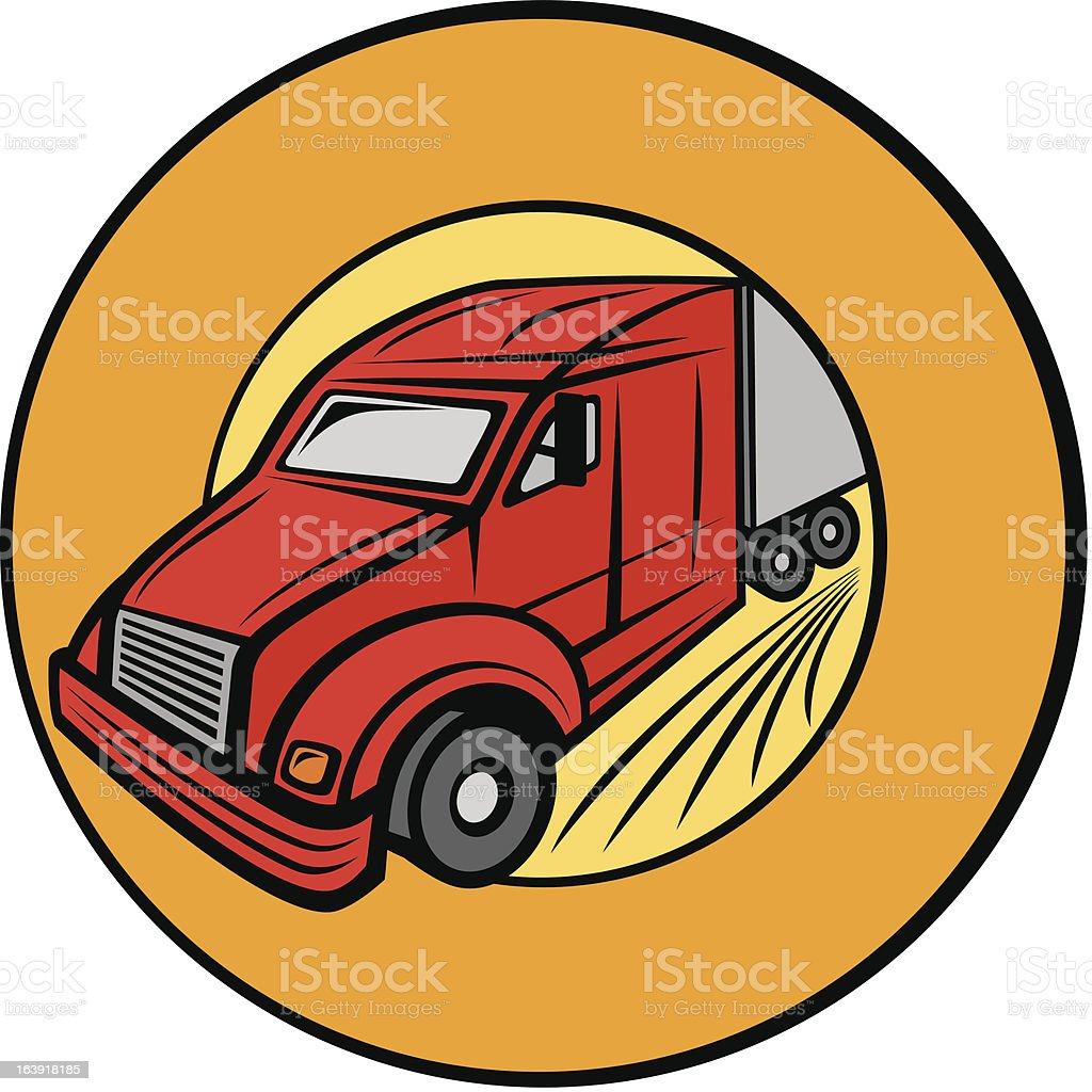 delivery truck royalty-free stock vector art