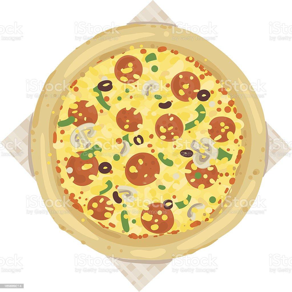 Deluxe Pizza royalty-free stock vector art