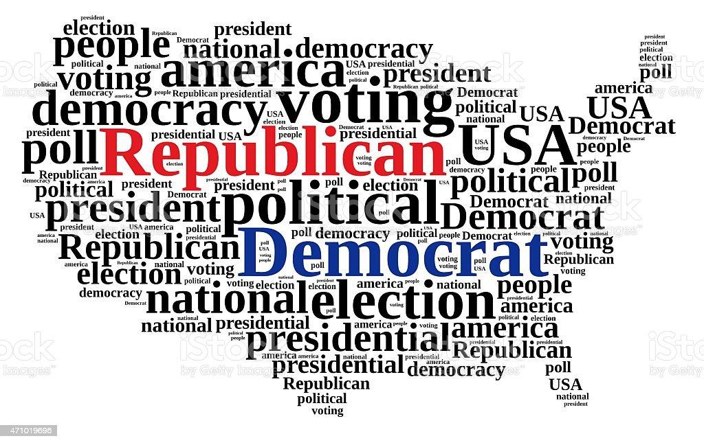 Democrat and Republic. vector art illustration
