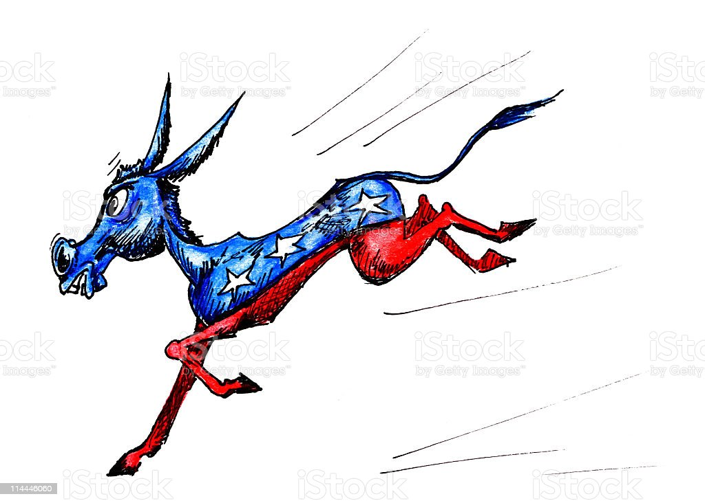 Democratic Donkey. royalty-free stock vector art