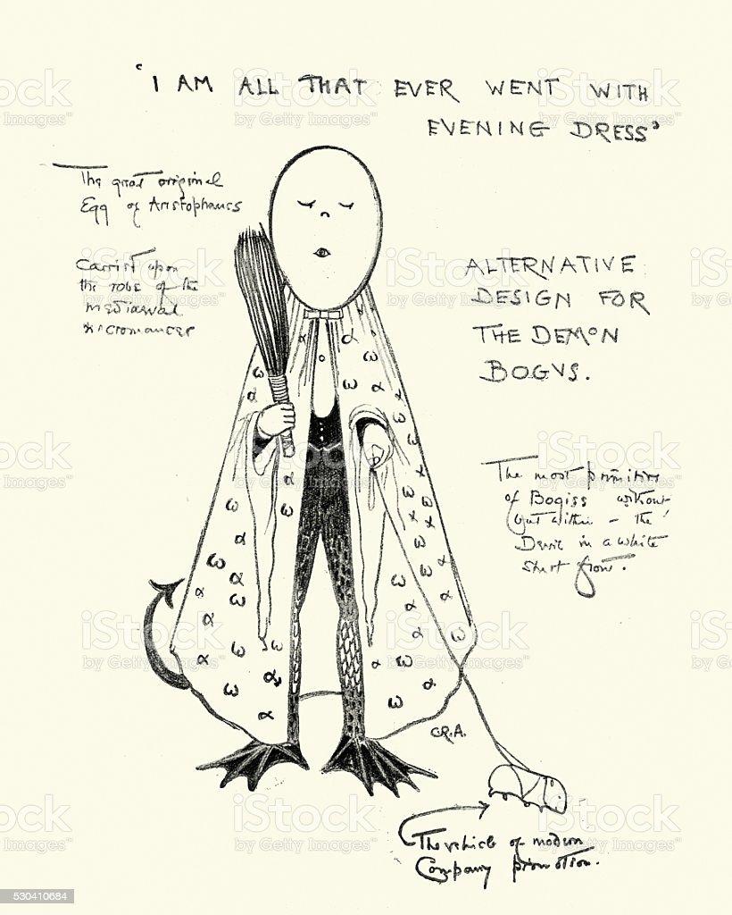 Demons Bogus vector art illustration