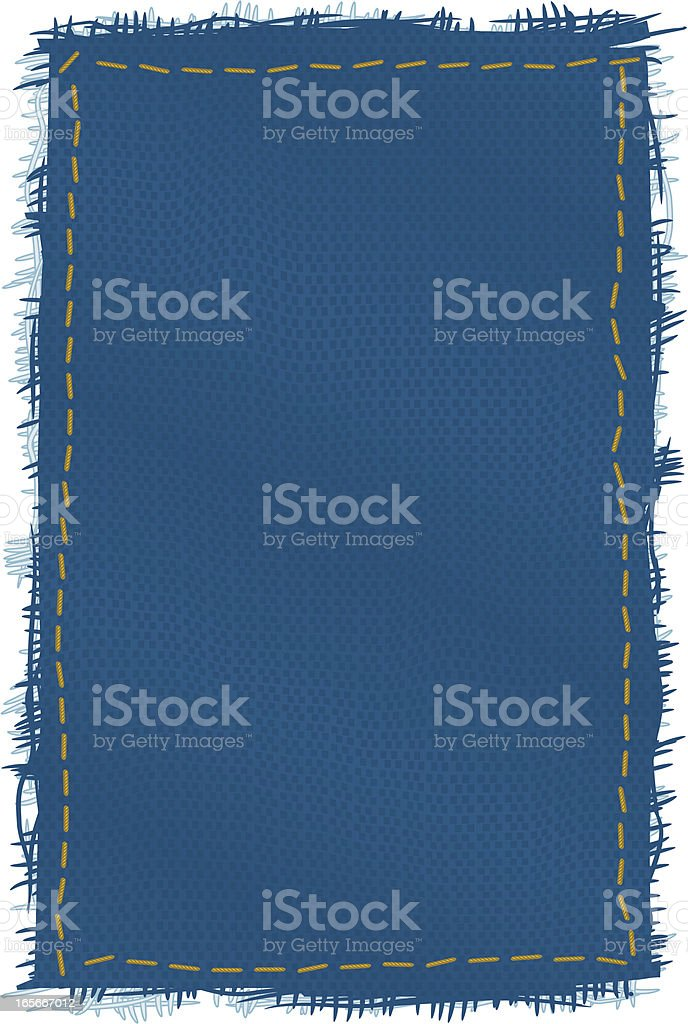 denim patch vector art illustration