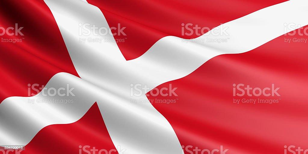Denmark flag. royalty-free stock vector art