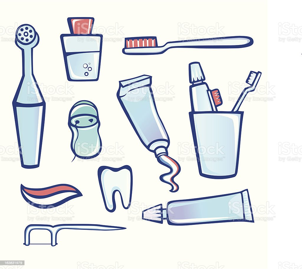 Dental Cleaner Equipment vector art illustration