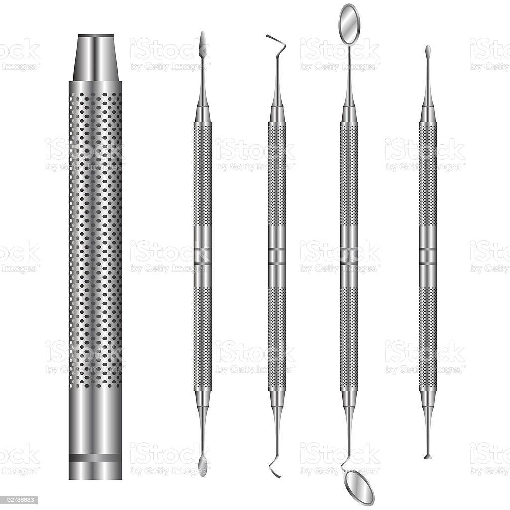 Dental tools royalty-free stock vector art