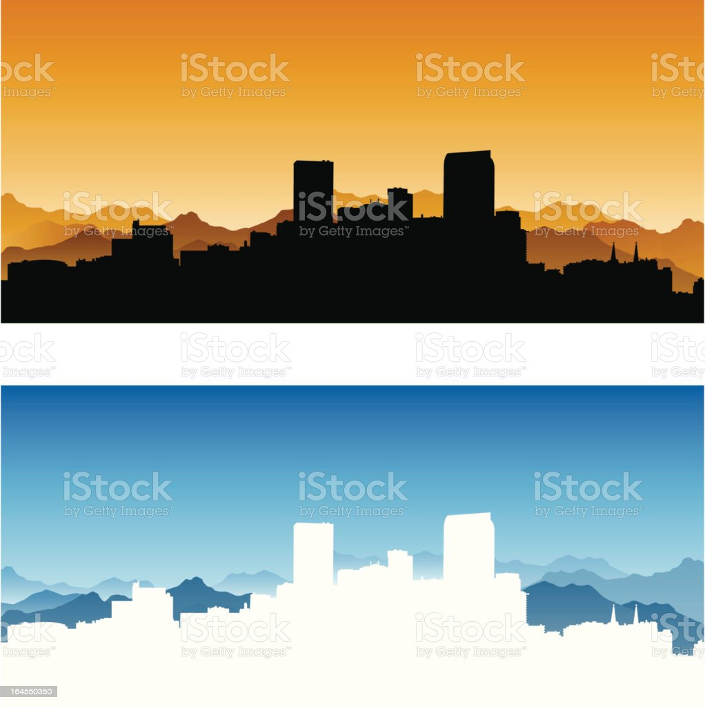 Denver City Skyline vector art illustration