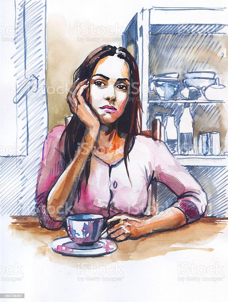Depression vector art illustration